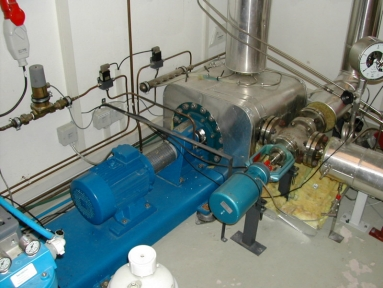 Photograph of the main circulating pump