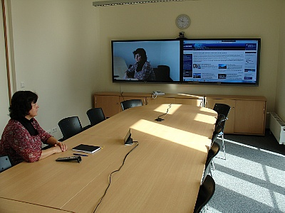 Videoconference System in the HZDR library