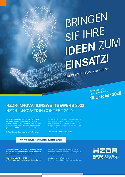 Poster HZDR Innovation Contest 2020 ©Copyright: fotolia