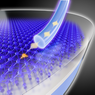 Single photons from a silicon chip ©Copyright: HZDR/Juniks
