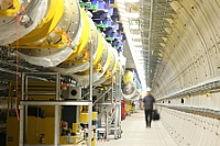 Accelerator tunnel at the European XFEL