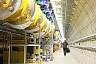 Accelerator tunnel of the European XFEL; Picture: DESY