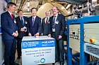 Foto: Ceremonial start of operations of Felsenkeller 5 MV underground accelerator on 04.07.2019: Physics Nobel Laureate Prof. Takaaki Kajita (center) together with PD Dr. Daniel Bemmerer (Deputy Scientific Director Felsenkeller), Prof. Gerhard Rödel (Prorektor Research, TU Dresden), Prof. Thomas Cowan (Director, HZDR Institute for Radiation Physics), Prof. Kai Zuber (Scientific Director Felsenkeller). ©Copyright: André Wirsig / HZDR