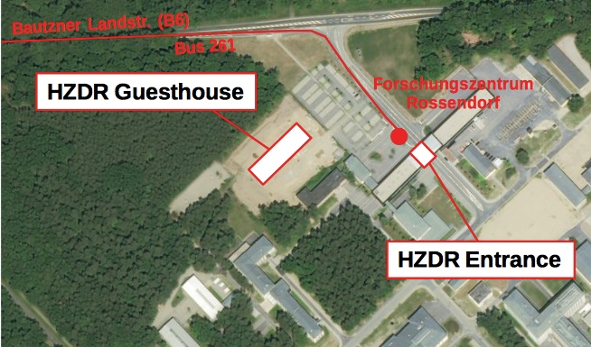 HZDR guesthouse and surroundings
