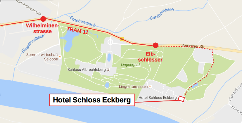 Hotel Schloss Eckberg and surroundings